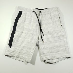 American Eagle Gray and white stretch waist shorts